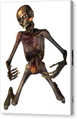Zombie, Artwork Canvas Print by Victor Habbick Visions