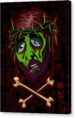 Zombie Superstar Canvas Print by Steve Hartwell