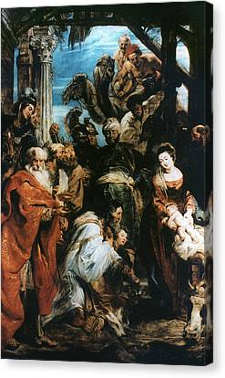 Adoration Of The Magi Canvas Print by Granger