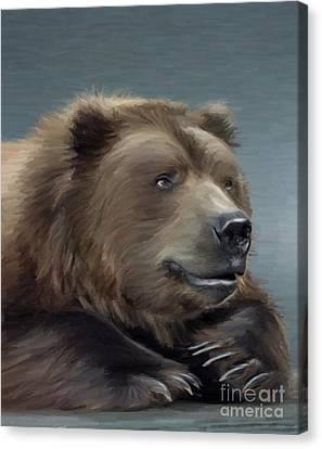Brown Bear Canvas Print by Aleksey Tugolukov