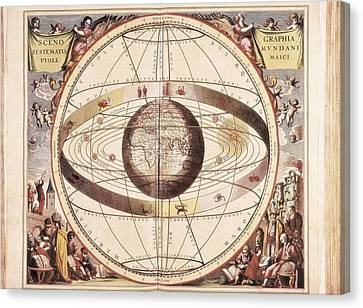 Cellarius, Andreas 1596-1665. Atlas Canvas Print by Everett