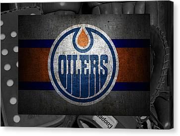 Edmonton Oilers Canvas Print by Joe Hamilton