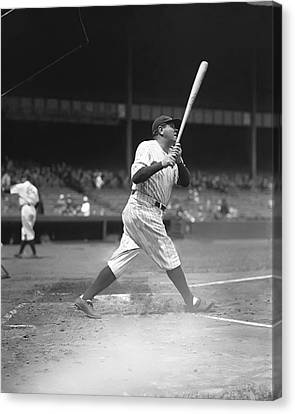 George H. Babe Ruth Canvas Print by Retro Images Archive