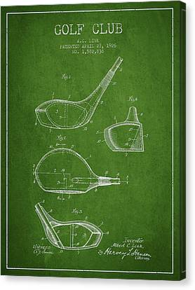 Golf Club Patent Drawing From 1926 Canvas Print by Aged Pixel