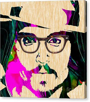 Johnny Depp Collection Canvas Print by Marvin Blaine