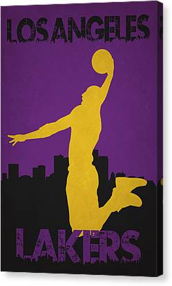 Los Angeles Lakers Canvas Print by Joe Hamilton