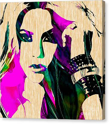 Shakira Collection Canvas Print by Marvin Blaine