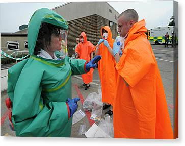 Training Exercise For Major Emergency Canvas Print by Public Health England