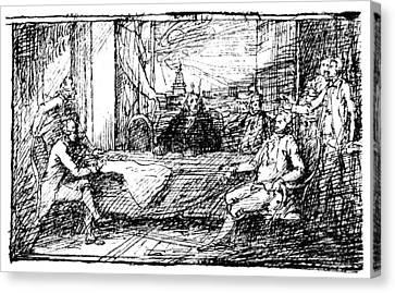 Treaty Of Paris, 1783 Canvas Print by Granger