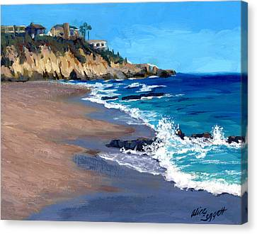 1000 Steps Beach In Laguna Beach California Canvas Print by Alice Leggett