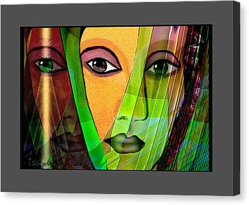 1086 - A Lady Canvas Print by Irmgard Schoendorf Welch