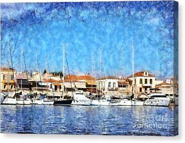 Aegina Port Canvas Print by George Atsametakis