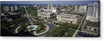 Aerial View Of Buildings In A City Canvas Print by Panoramic Images