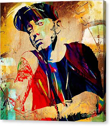 Eminem Collection Canvas Print by Marvin Blaine