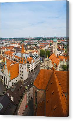High Angle View Of Buildings Canvas Print by Panoramic Images