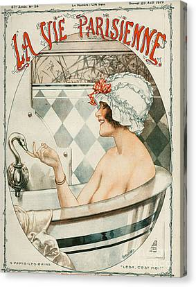 La Vie Parisienne  1919 1910s France Canvas Print by The Advertising Archives