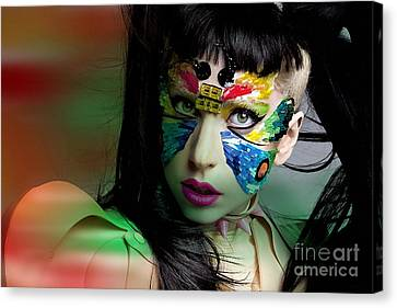 Lady Gaga Canvas Print by Marvin Blaine