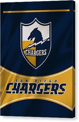 San Diego Chargers Uniform Canvas Print by Joe Hamilton