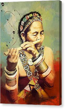 South Asian Art  Canvas Print by Corporate Art Task Force