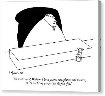 Untitled Canvas Print by Charles Barsotti