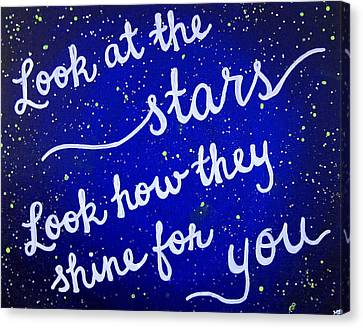 11x14 Look At The Stars Canvas Print by Michelle Eshleman