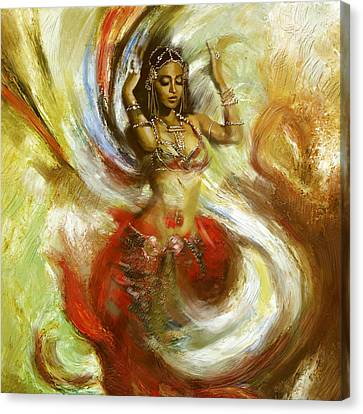 Abstract Belly Dancer 15 Canvas Print by Corporate Art Task Force