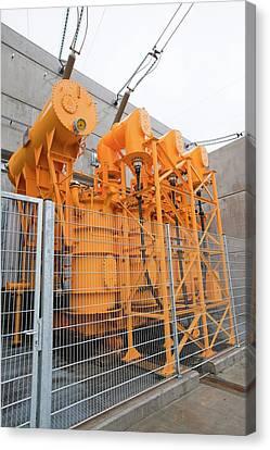 Fljotsdalur Hydro Power Station Canvas Print by Ashley Cooper