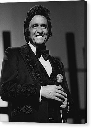 Johnny Cash Canvas Print by Retro Images Archive