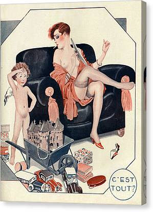 La Vie Parisienne 1927 1920s France Cc Canvas Print by The Advertising Archives