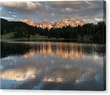 The Karwendel Mountain Range Canvas Print by Martin Zwick