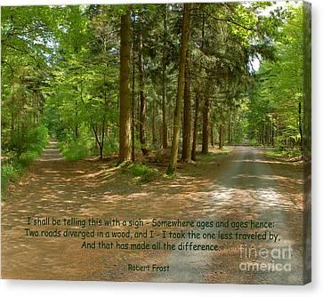 12- The Road Not Taken Canvas Print by Joseph Keane