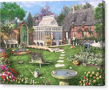 The Cottage Garden Canvas Print by Dominic Davison