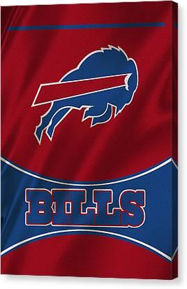 Buffalo Bills Uniform Canvas Print by Joe Hamilton