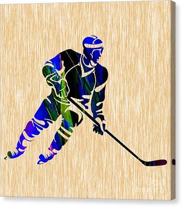 Hockey Canvas Print by Marvin Blaine