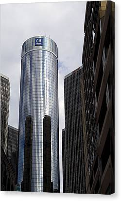 Renaissance Center Canvas Print by Gary Marx