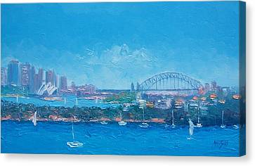 Sydney Harbour And The Opera House By Jan Matson Canvas Print by Jan Matson