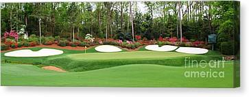 13th Green  Augusta Canvas Print by Tom McGuirk