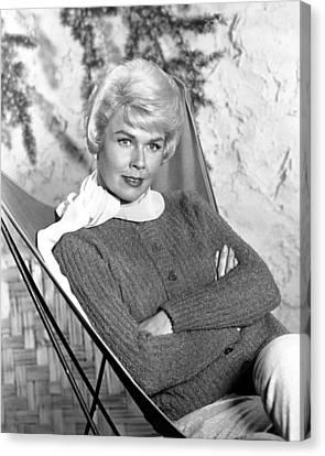 Doris Day Canvas Print by Silver Screen