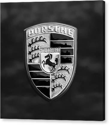 1973 Porsche 911 E Targa Emblem Canvas Print by Jill Reger