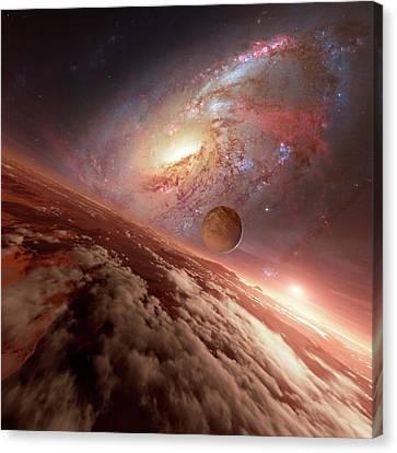 Alien Planetary System Canvas Print by Detlev Van Ravenswaay