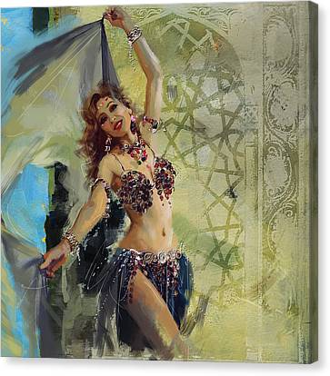Abstract Belly Dancer 13 Canvas Print by Corporate Art Task Force