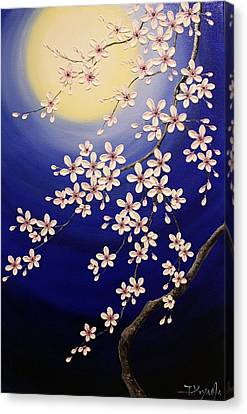 Cherry Blossoms Canvas Print by Tomoko Koyama