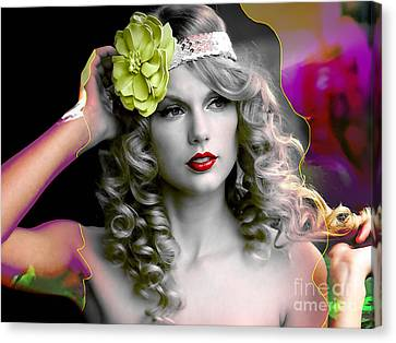 Taylor Swift Canvas Print by Marvin Blaine
