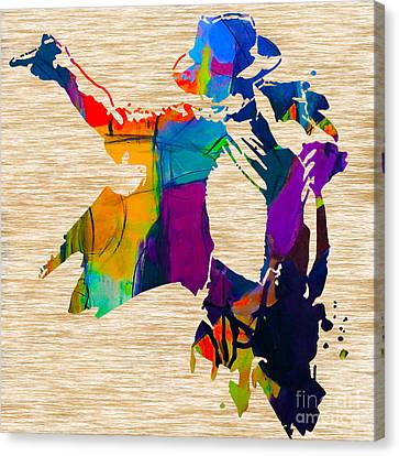 Michael Jackson Canvas Print by Marvin Blaine