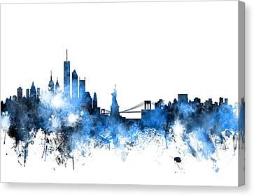 New York Skyline Canvas Print by Michael Tompsett