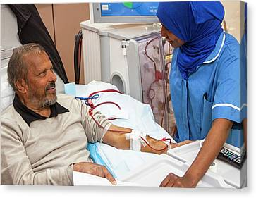 Shared Care Dialysis Unit Canvas Print by Life In View