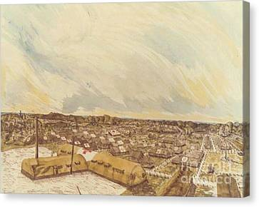 167th General Hospital Cherbourg France Ww II Canvas Print by David Neace