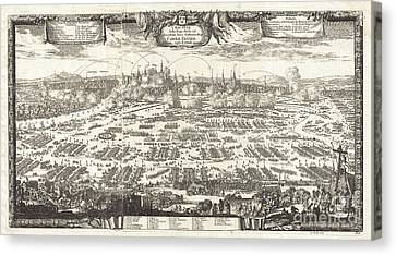 1697 Pufendorf View Of Krakow Cracow Poland Canvas Print by Paul Fearn