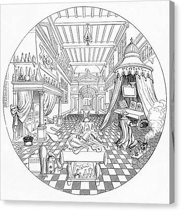 16th Century Alchemist's Laboratory Canvas Print by Cci Archives