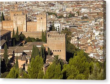 Alhambra. Spain. Granada. Alhambra Canvas Print by Everett